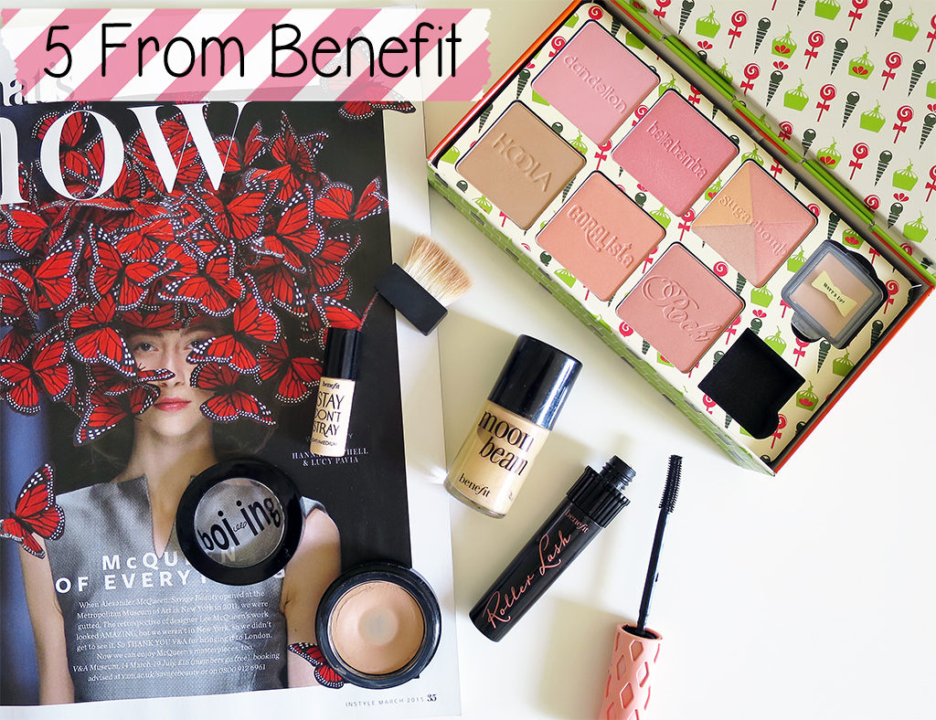 5 products from Benefit