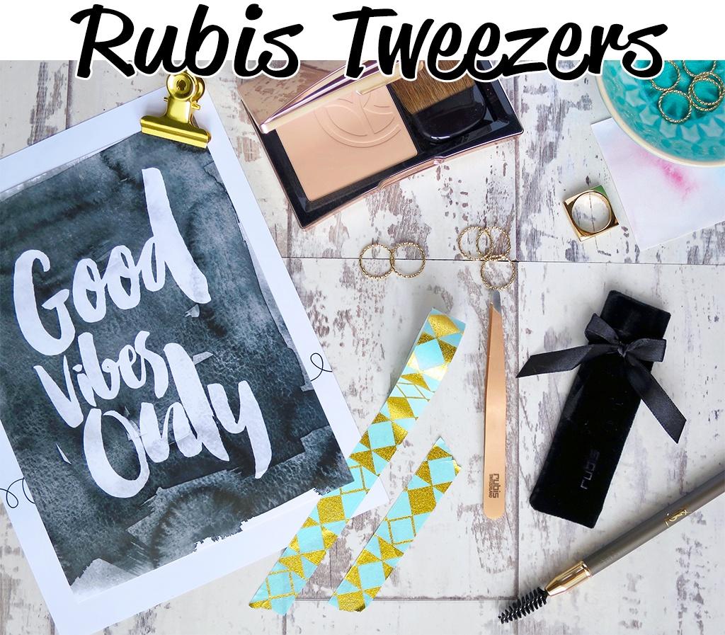 RUBIS Rose Gold Tweezers